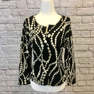 CAbi String of Pearls Button Down Cardigan Size L